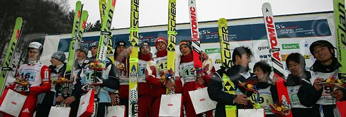 Junior team ski jumping race of FIS Nordic Junior Ski World Cham